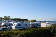 En del av campingen närmast stranden