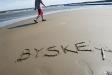 Den långgrunda sandstranden i Byske!