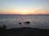 Vacker solnedgång över Vänern.