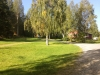 Vägen upp till campingplaterna och lekplats/grillplats