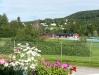 Utsikt från verandan på Receptionen