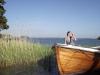 Båtbrygga intill campingen