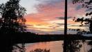 Solnedgång över Gröne Backe Camping. Tyvärr inte i tystnad!