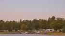 Del av campingen ut mot havet.