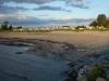 Kanske lite mycket tång på stranden denna julikväll.
