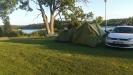 fin tältplats vid innervik av östersjön