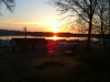 En stilla morgon på Lövekulle camping i Alingsås