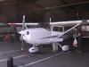 Aeroklubbens Cessna SE-LVB i hangaren.