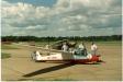 Flygklubbarnas platta 1991. Termikflygning förbereds.