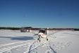 Feringe Flygplats en vacker vinterdag