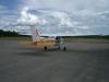 Flygklubbens eget flygplan på plattan i Ljusdal