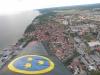 Flygplatsen sett från Safir över Visby