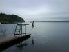 Hopptornet är ett par meter och perfekt för dykning. Eller att hoppa med fötterna före förstås :-)