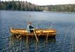Här är jag ute och ror med roddbåten på Mörtsjön