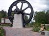 Gamla brukets svänghjul som väger 70 ton.