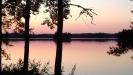solnedgång vid Orranäsasjön.