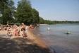 Populär badstrand