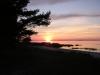 Solnedgång vid Ekeviken.