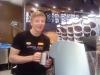 Baristan var tämligen glad!! Och han gjorde förstaklassigt kaffe!