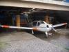 Rally parkerad i den lägre hangaren.