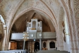 Orgeln byggdes 1821 av Pehr Zacharias Strand efter ritning av arkitekt Carl-Gustaf Blom-Carlsson.