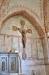 Triumfkrucifixet på norra väggen är ett svenskt arbete från 1300-talets andra fjärdedel.