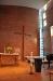 Inför barndop. Den rosa dekorationen i korset är nu avlägsnad.