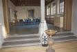 Kyrksalen från altaret.