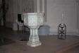 Textilen över altaret är ritad av Anna-Lisa Odelqvist-Kruse.