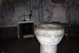 Dopfunten av sandsten från 1500-talet.