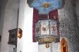 Entrén till kyrkans kolumbarium.