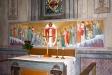 altartavlan och korfönstret.