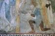 Flera scener i en ruta: Jonah och valfisk till höger.