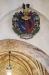 Begravningsvapen i runda kyrkan ovanför triumfbågen.