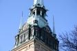 Predikstolen tillverkades 1660 av ebenholts och alabaster.