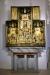 Altaret står nu till vänster om koret i ett stort öppet sidokapell.