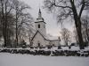 Vårdinge kyrka i vinterskrud