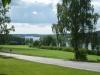 Vacker utsikt över sjön sillen från kyrkbacken.