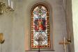 Korfönstrets glasmålning är ett tyskt arbete fån 1900-talets början.