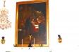 altartavlan och dopmöbeln ett litet träbord från år 1747 avsett att sätta dopskålen på.