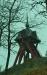 På berget ovanför kyrkan står klockstapeln med sin tupp