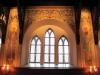 Norrvägg med fönster och apostlar