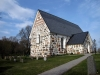 Kyrkan består av rektangulärt långhus
