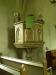 Predikstol från 1894 med timglas  från 1726