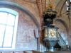 En starkt förenklad 1500-tals kopia av S:t Göransbild av guppen i Stockholms storkyrka Aug 2010