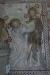 Jesus och Tomas tvivlaren. Väggmålning om/nymålad 1896.