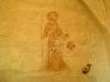 En av få målningar i Sånela kyrka