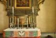 Predellan med Nattvardsmålningen har tidigare varit sockel till predikstolen