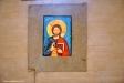 Den tidigare altartavlan ´Blommande kors´ av Maj Bernmark