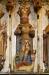 Vyn from tornets bottenvåning mot altaret. Det mörka är orgelläktarens låga golv.